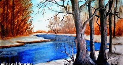 Drawing Landscape Oil Scenery Easy Pastel Painting