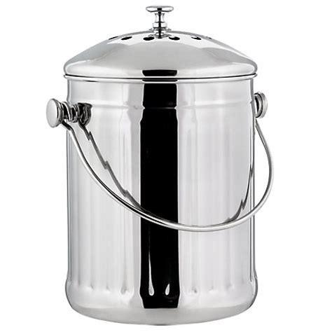 poubelle compost cuisine bioseau inox 3l ecovi