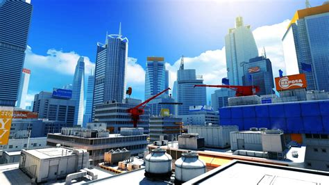 City Animated Wallpaper - mirrors edge dreamscene live wallpaper city view 2