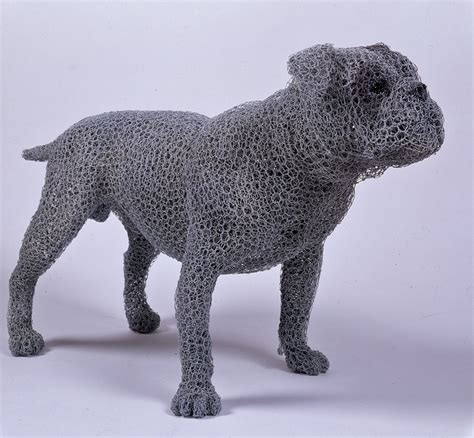 Kendra Haste's steel wire animal sculptures --- strikingly