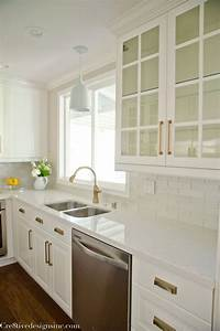 best 25 white counters ideas on pinterest kitchen With kitchen cabinets lowes with large gold metal wall art