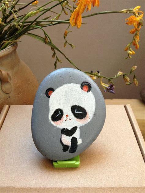 images  painted stones pandas  pinterest