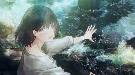Download 1920x1080 Anime Boy Stream Happy Face Black