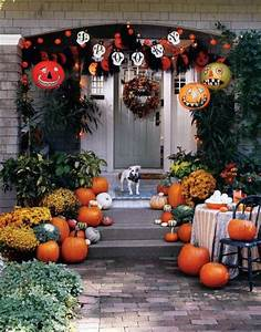 Halloween Deko Außen : herbst helloween deko au en hauseingang k rbisse herbst ~ Jslefanu.com Haus und Dekorationen