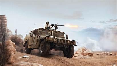 Desert Minigun Hmmwv Humvee Hummer Military Jeep