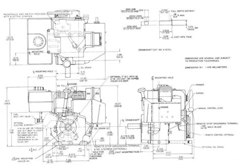 Dimension Wiring Diagram by Small Engine Suppliers Tecumseh Small Engine Model