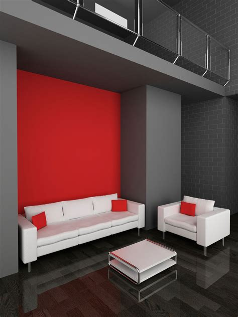 decorar salon en rojo negro  gris en  home decor