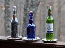 the gardenroof coop DIY Wine Bottle BirdFeeders