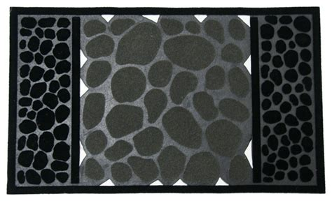 Modern Doormats Outdoor by River Rocks Outdoor Rubber Door Mat Contemporary