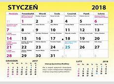 Kalendarz 2018 2019 2018 Calendar Printable with