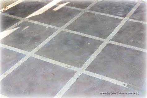 faux tile painted concrete floor flooring faux tiles tile countertops diy