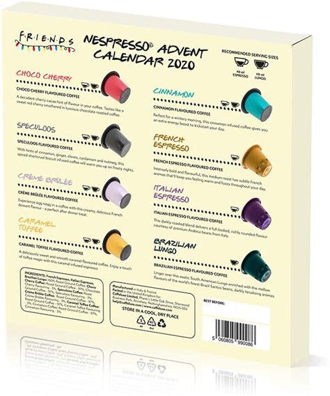 Lakrids liquorice advent calendar 2020. Friends Nespresso® Compatible Capsule Advent Calendar 2020 - Advents