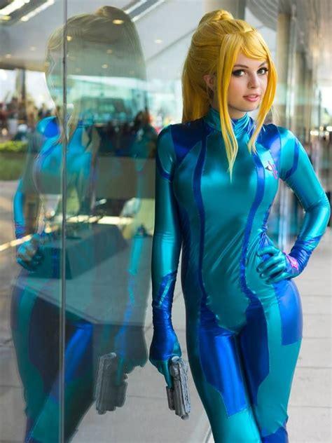 Oki Cosplay Samus Aran Zero Suit Cosplay Metroid