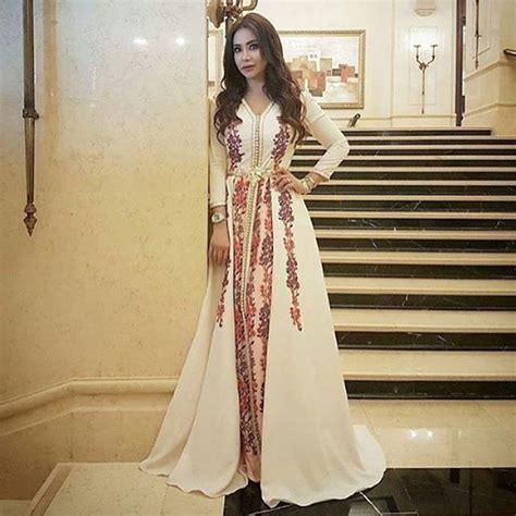 robe caftan marocain moderne aliexpress buy muslim evening dress moroccan kaftan 2017 robe de soiree dubai lace