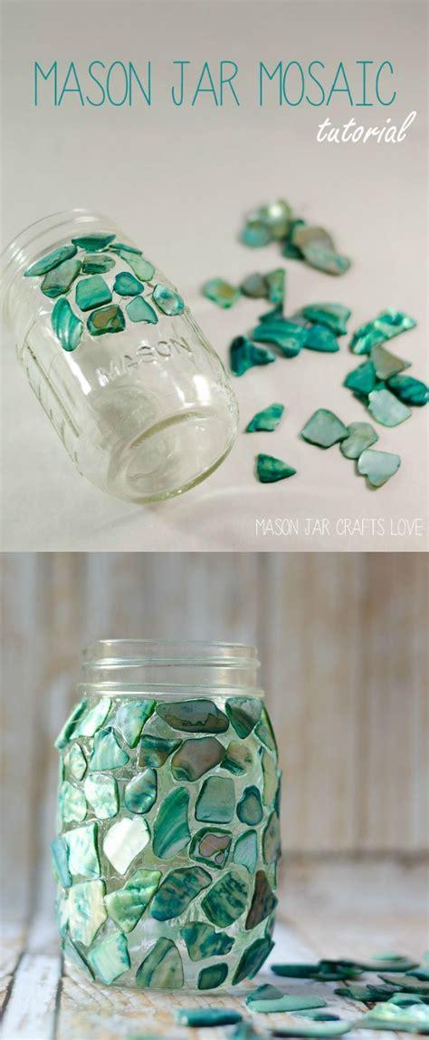 Mosaic Mason Jar Mason Jar Diy Jar Crafts Mosaic Crafts