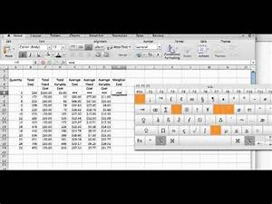 Small Business Excel Spreadsheet Cost Calculations Using An Excel Spreadsheet Mp4 Youtube