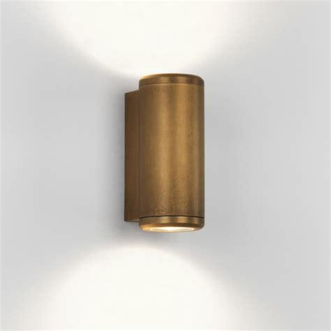astro jura coastal twin antique brass outdoor wall light