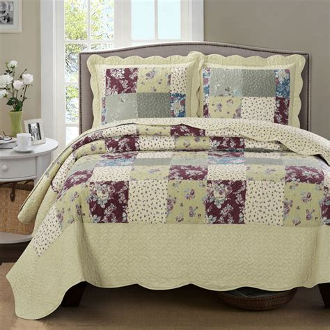 Oversized Coverlets by Luxury Tania Oversized Microfiber Coverlet Quilt Set With