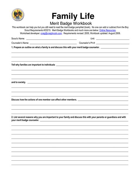 13 of family roles worksheets dysfunctional