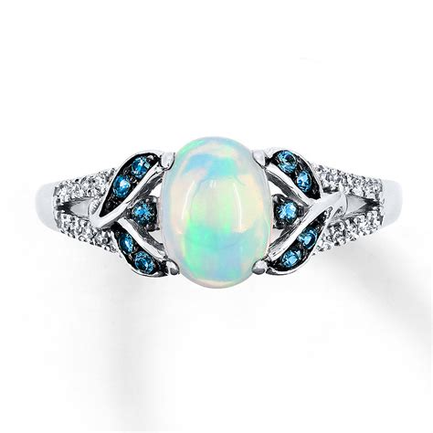 Opel Rings by Opal Ring 1 15 Ct Tw Diamonds 10k White Gold