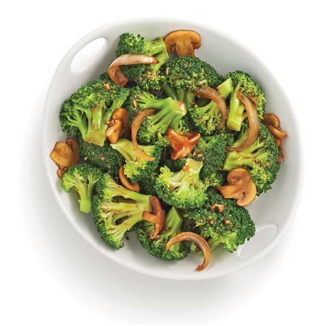 cuisine brocolis brocoli poêlé et chignons recettes cuisine et