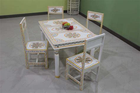 indiachand painted dining sets wooden painted dining
