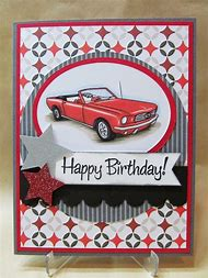 Handmade Birthday Card Cars