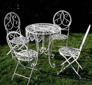 Salon De Jardin Metal : salon de jardin en metal laqu blanc ~ Dailycaller-alerts.com Idées de Décoration