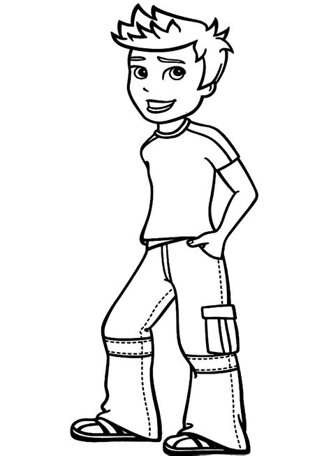 boy coloring pages    print