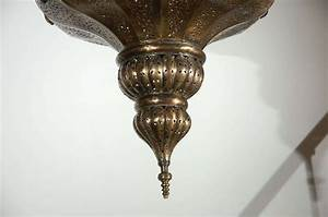 Vintage moroccan brass chandelier alberto pinto style for