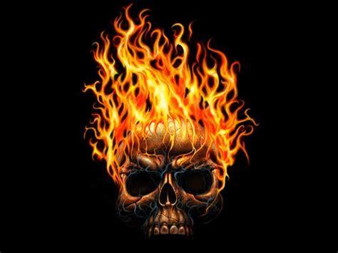 Flaming Skull Wallpaper.