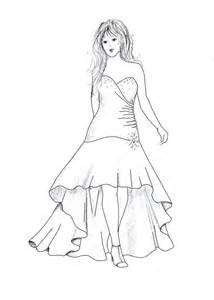High Low Prom Dress Sketches