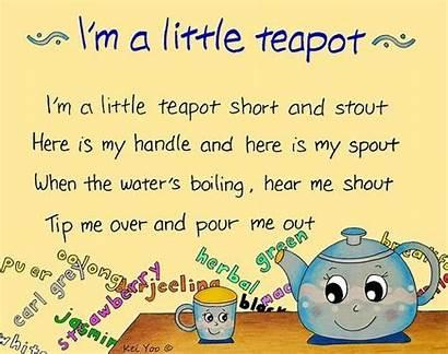 Rhymes Teapot Nursery Rhyme Children Songs English