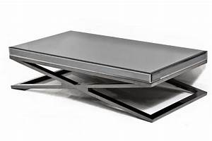 wwwroomservicestorecom fat black chrome x leg smoked With chrome mirror coffee table