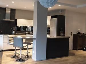cuisine cuisine ouverte sur le salon pratique et With cuisine ouverte sur salon photos