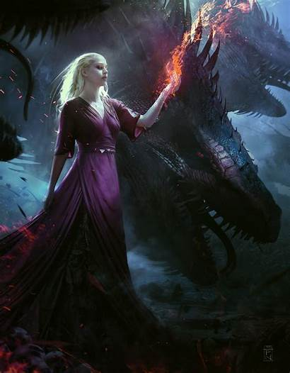 Queen Dragon Idrassi Soufiane Fantasy Artstation Warrior
