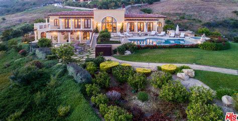 mediterranean style hilltop home  malibu california homes   rich