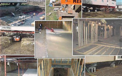 build  mobile home basement mobile home repair