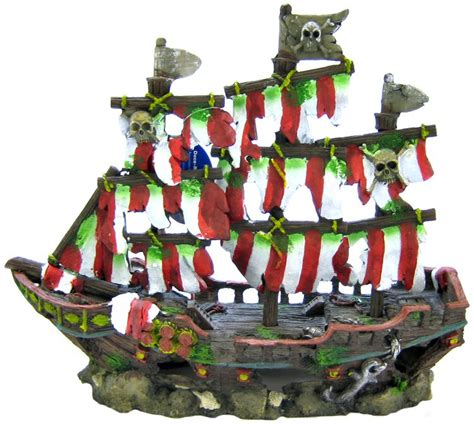 penn plax penn plax striped shipwreck decoration set