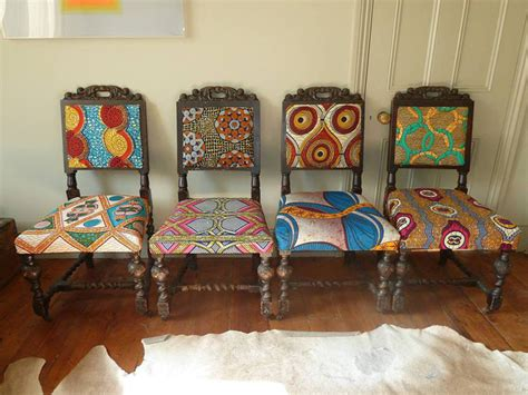 frumpy chairs   tribal fabric makeover modhomeec
