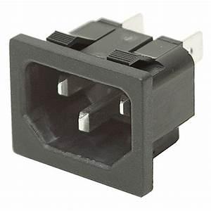 120 Vac Iec Standard C14 Power Inlet Plug