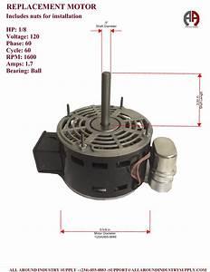 7124-0183 Loren Cook Direct Drive Replacement Motor