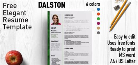 Free Stylish Resume Templates by Dalston Newsletter Resume Template