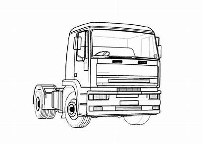 Coloring Truck Trucks Pages Ford Cartoon Raptor