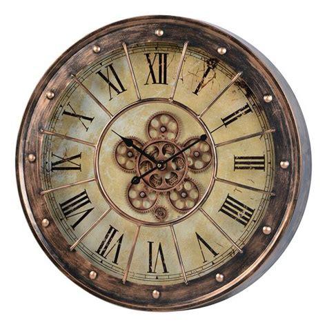 50 inch wall clock corbet 39 s moving gear wall clock 23 quot copper 41163