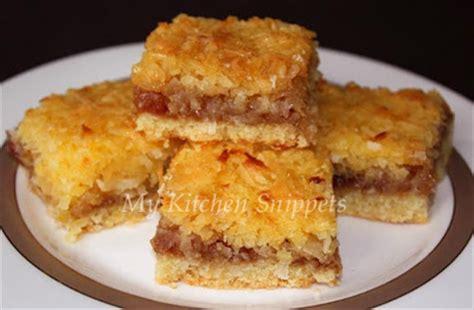 Kitchen Jam Slice by My Kitchen Snippets Coconut Jam Slice