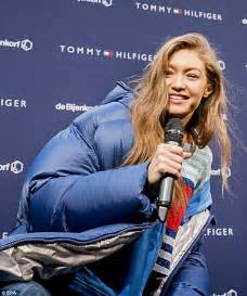 Gigi Hadid promotes Tommy Hilfiger collection in Amsterdam ...