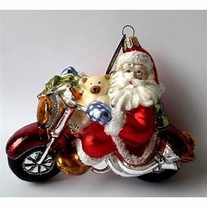 Weihnachtsmann Als Profilbild : christbaumschmuck weihnachtsmann auf motorrad ~ Haus.voiturepedia.club Haus und Dekorationen