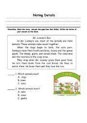 english worksheet noting details  images esl