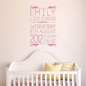 personalised baby wall sticker by oakdene designs With baby wall decals